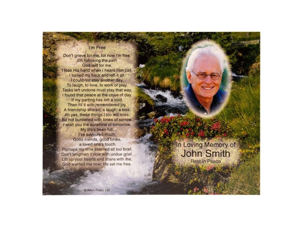 Scenic Memorial Cards