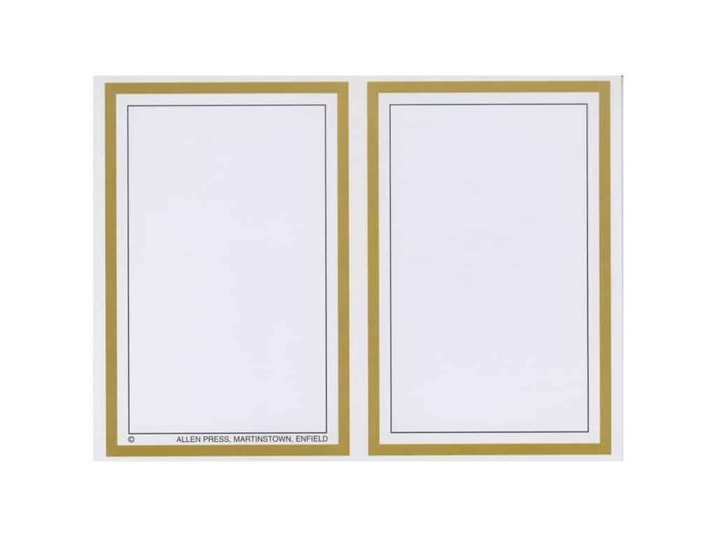Customised Gold Border Cards